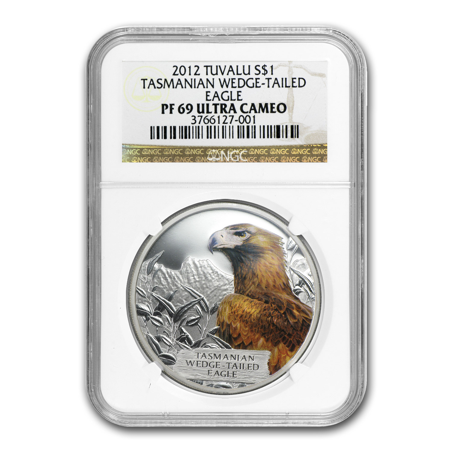 2012 Tuvalu 1 oz Silver Wedge-Tailed Eagle PF-69 NGC